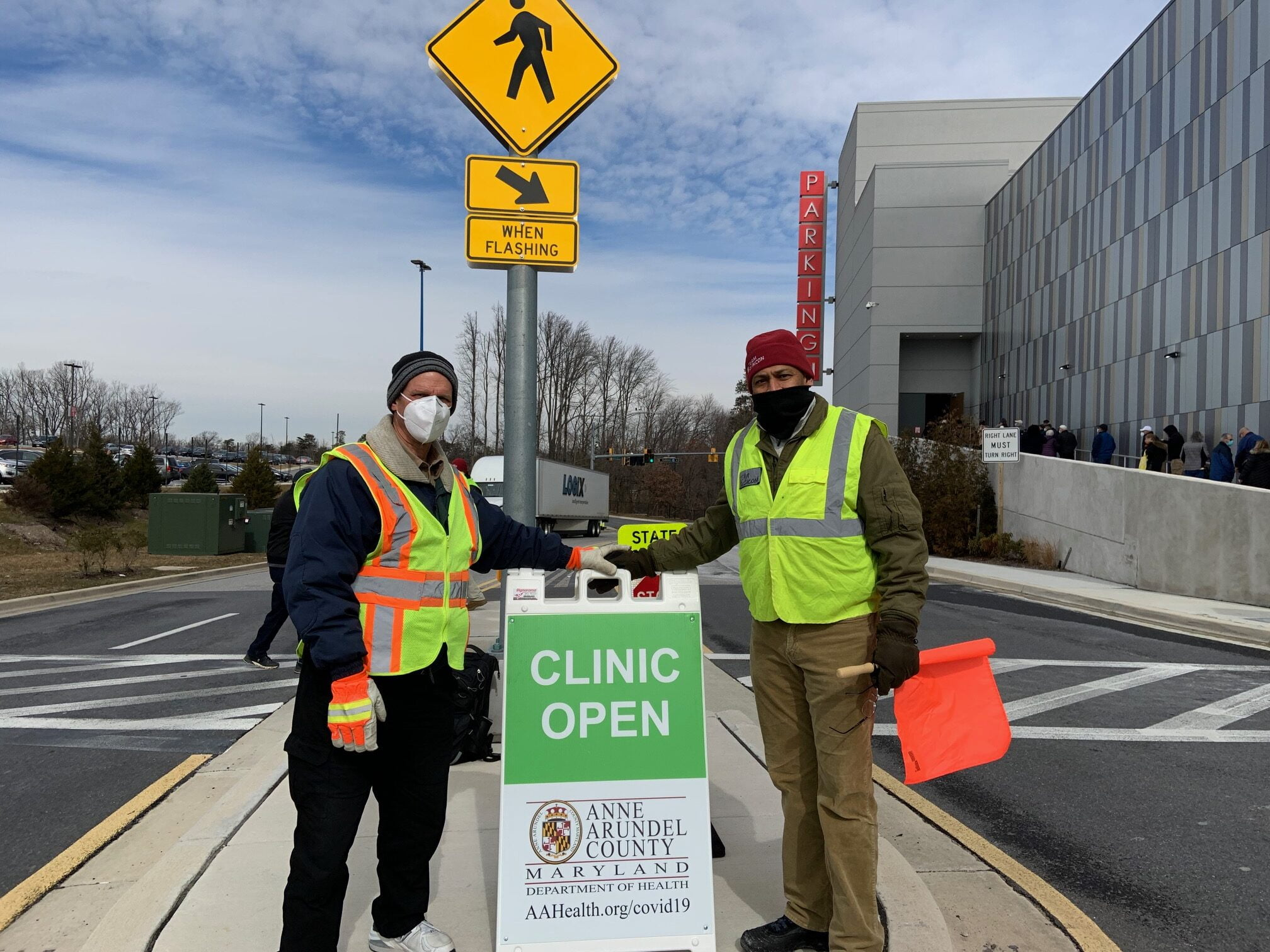 MDVOAD members help with traffic control,