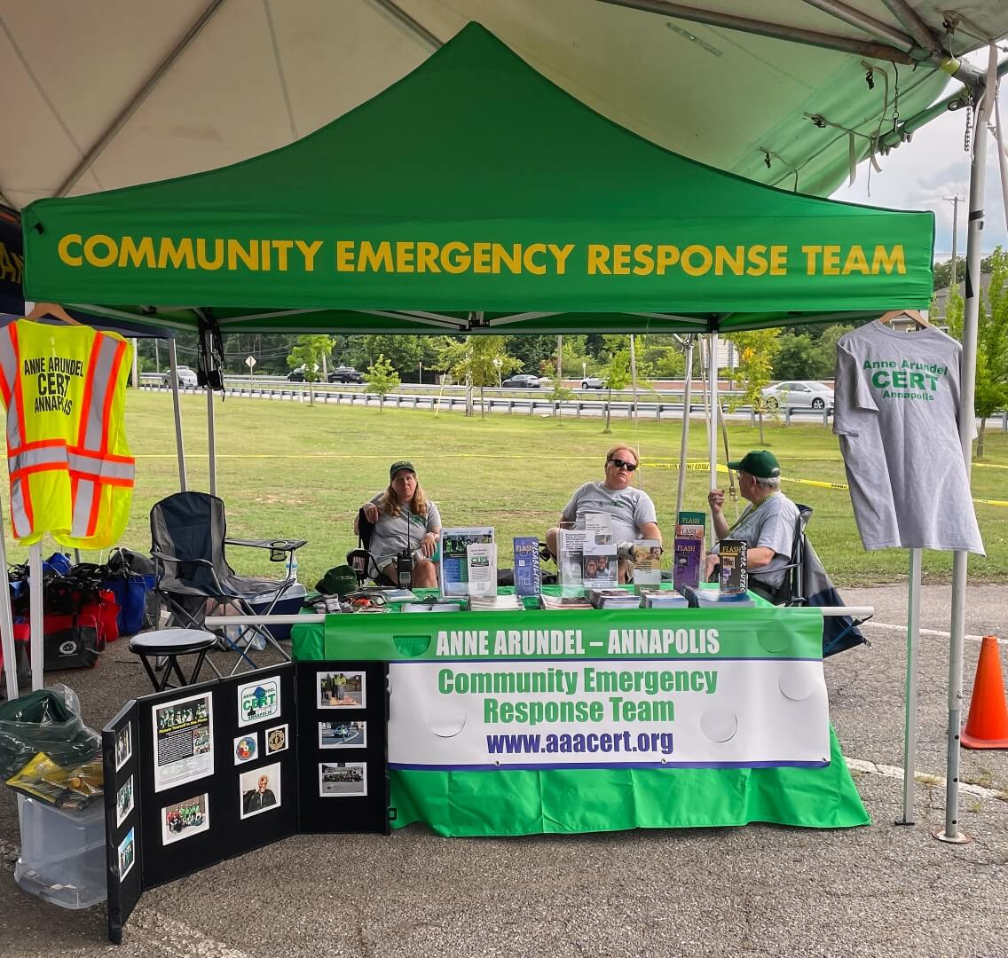 AAACERT Tent at NNO 2021